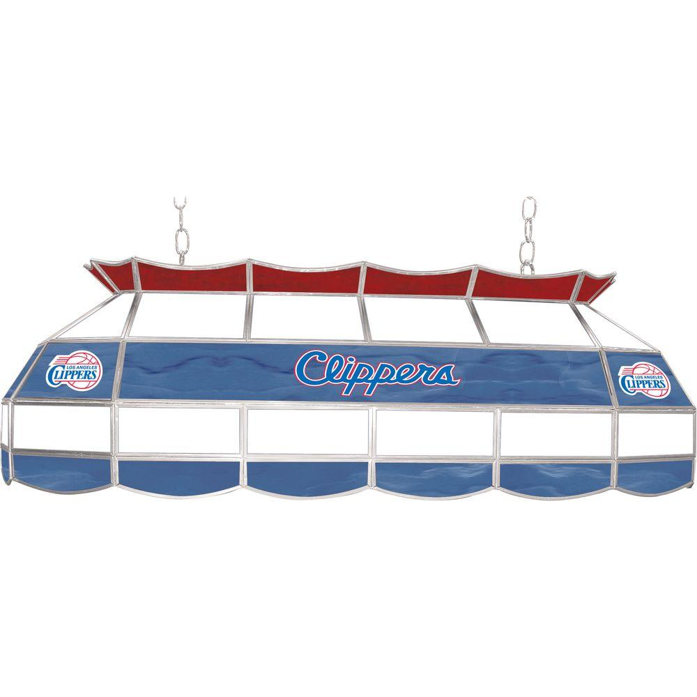 NBA Los Angeles Clippers NBA 3-Light Stained Glass Hanging Tiffany Lamp