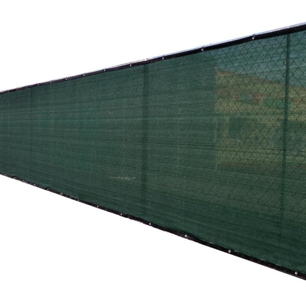 58 in. x 50 ft. Green Privacy Fence Screen Plastic Netting Mesh Fabric Cover with Reinforced Grommets for Garden Fence