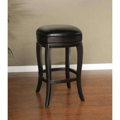 Madrid 30 in. Black Cushioned Bar Stool