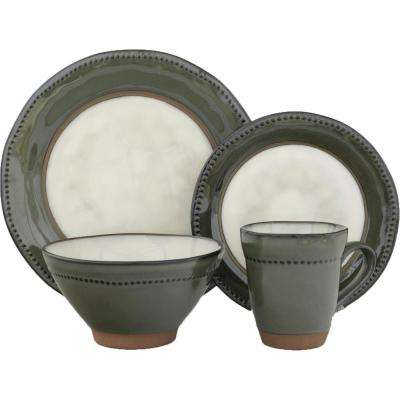 16-Piece Centrics Jade Dinnerware Set