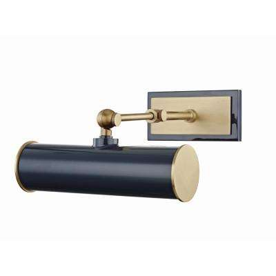 Holly 1-Light Aged Brass/Navy Picture Light