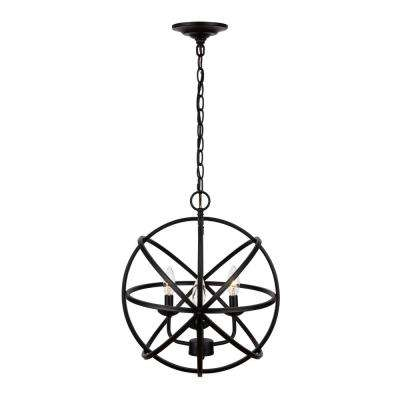 Sarolta Sands 3-Light Black Orb Chandelier