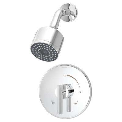 Dia 1-Handle Shower Faucet Trim Kit in Chrome (Valve Not Included)