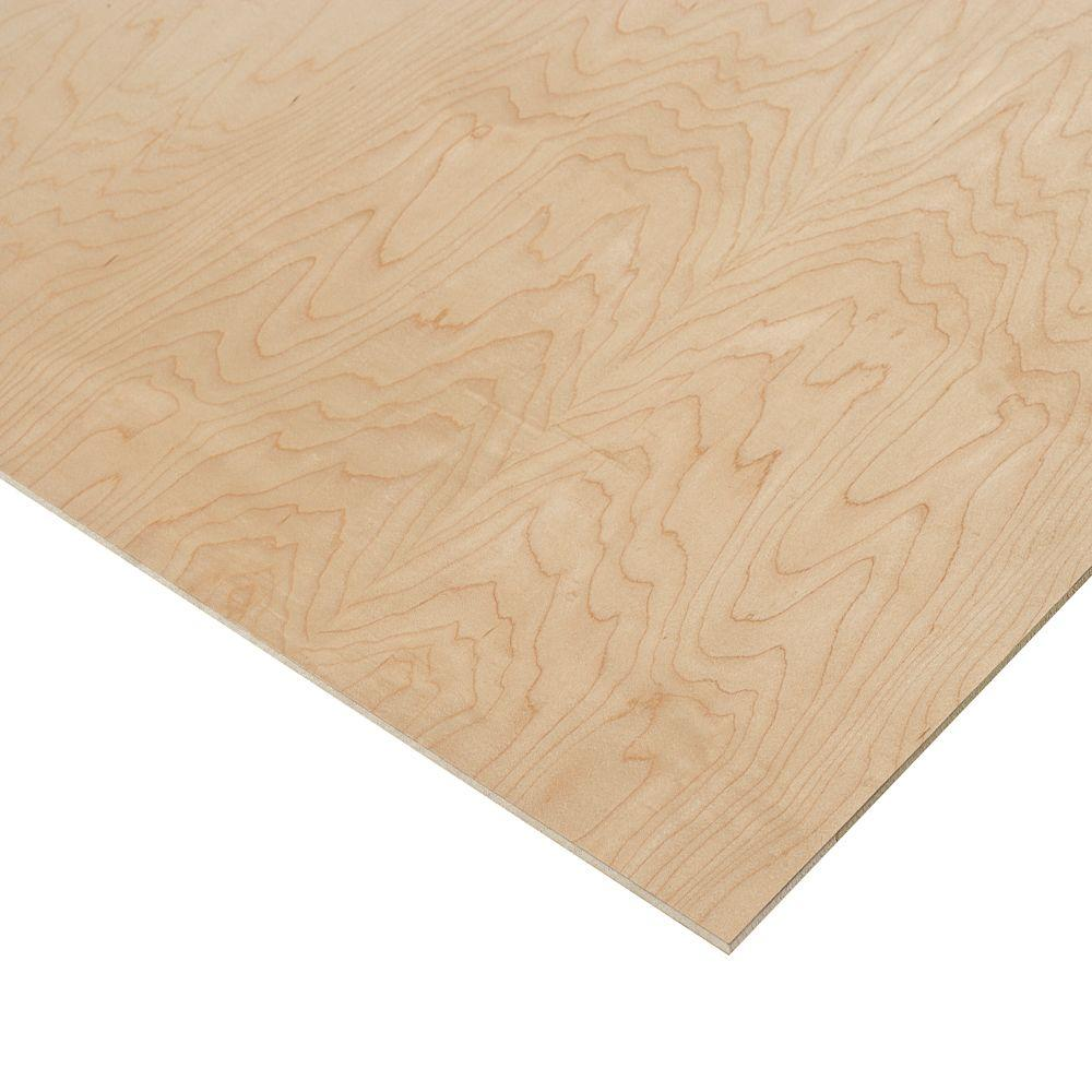 1/4 in. x 2 ft. x 2 ft. PureBond Prefinished Maple