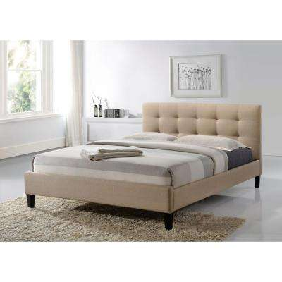Hermosa Beige Queen Upholstered Bed
