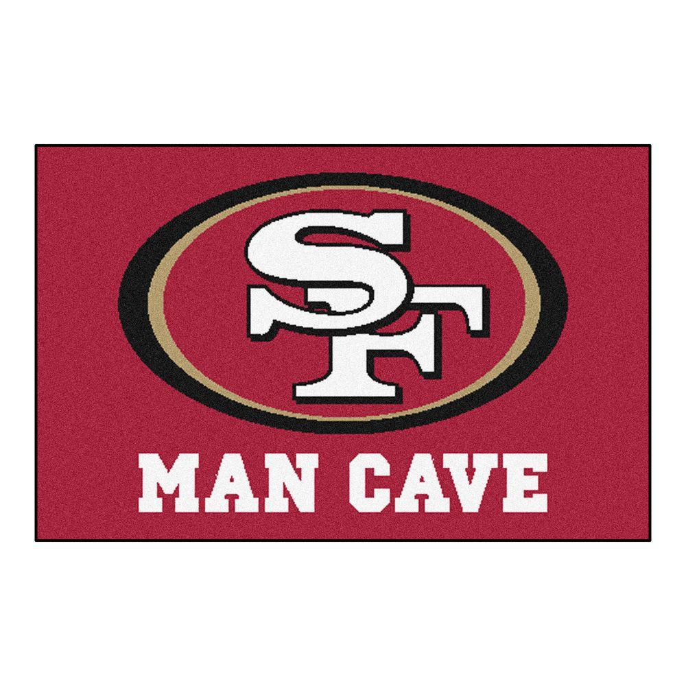 Fanmats Nfl San Francisco 49ers Red Man Cave 1 Ft 7 In X