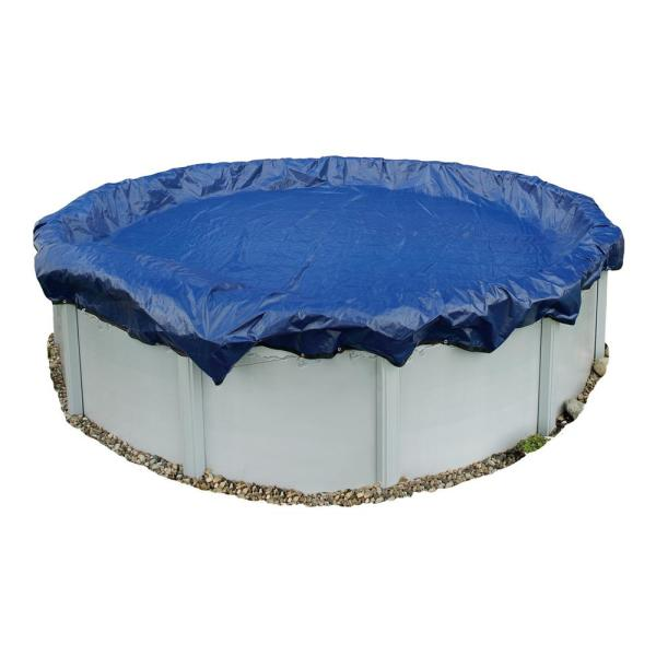15-Year 16 ft. x 32 ft. Oval Royal Blue Above Ground Winter Pool Cover