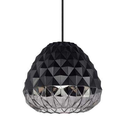 Facette grande 15 watt black smoke integrated led pendant