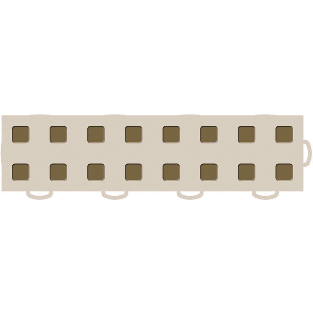 WeatherTech TechFloor 3 in. x 12 in. Tan/Medium Brown Vinyl Flooring Tiles (Right Loop) (Quantity of 10)
