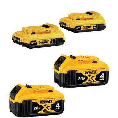 20-Volt MAX Lithium-Ion Battery Pack (4-Pack)