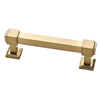 Classic Square 3 in. (76 mm) Center-to-Center Champagne Bronze Drawer Pull