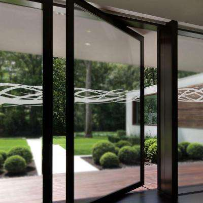 0.012 in. x 9 in. Rococo Premium Glass Etch Window Film