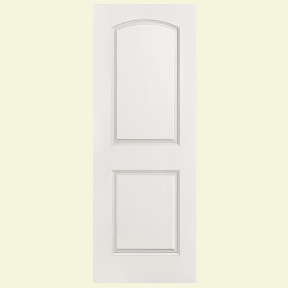 masonite 24 in x 80 in solidoor roman smooth 2 panel round top solid core primed composite