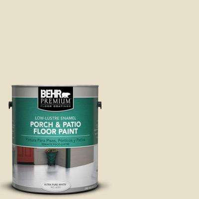 1 gal. #PPU8-14 Silky Bamboo Low-Lustre Interior/Exterior Porch and Patio Floor Paint