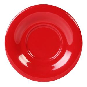 Coleur 5-1/2 in. Saucer for Cr303/Cr9018 in Pure Coleur Red (12-Piece)