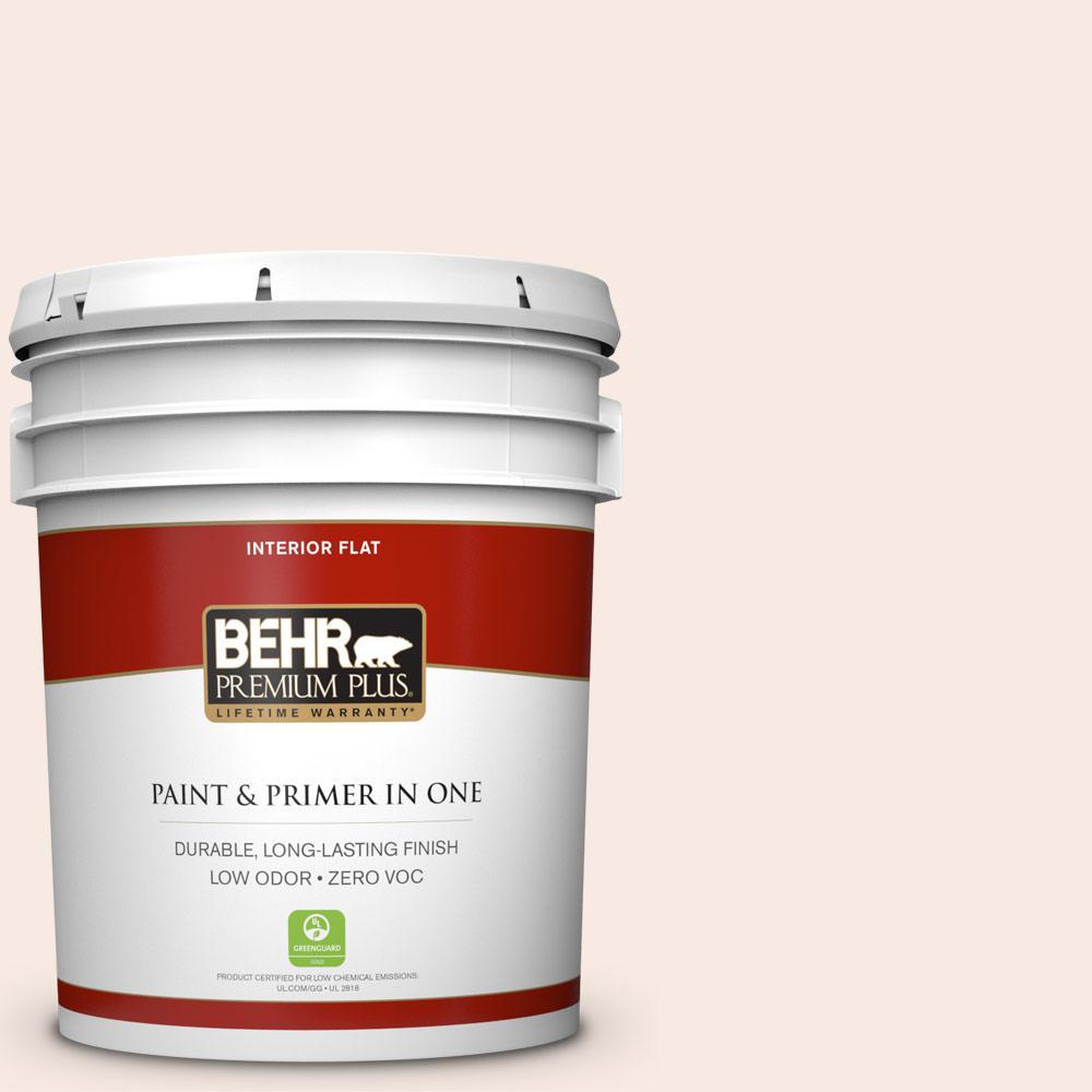 BEHR Premium Plus 5-gal. #210E-1 Bella Pink Zero VOC Flat Interior Paint