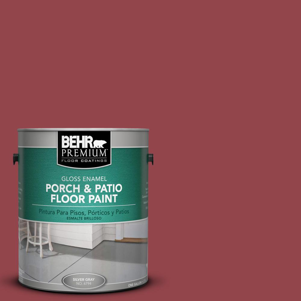 1 gal. #M140-6 Circus Red Gloss Porch and Patio Floor Paint