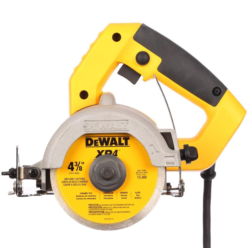 Dewalt 4 38 In Wetdry Hand Held Tile Cutter Dwc860w The Home Depot