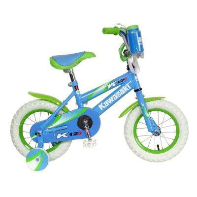 Monocoque Kid's Bike, 12 in. Wheels, 8 in. Frame, Girl's Bike in Blue