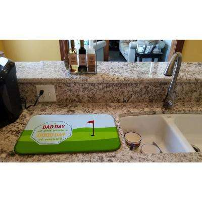 14 in. x 21 in. Multicolor A Bad Day at Golf Dish Drying Mat