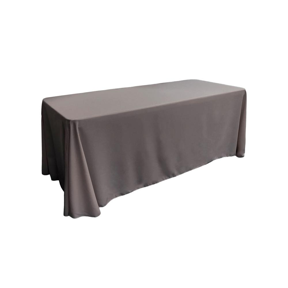 Charmant Charcoal Polyester Poplin Rectangular Tablecloth