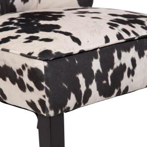 Astonishing Mimi Black And White Cow Print Tulip Back Accent Chair 01 Spiritservingveterans Wood Chair Design Ideas Spiritservingveteransorg