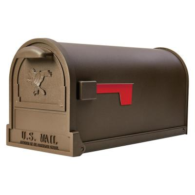 Arlington Large, Steel, Post-Mount Mailbox, Bronze