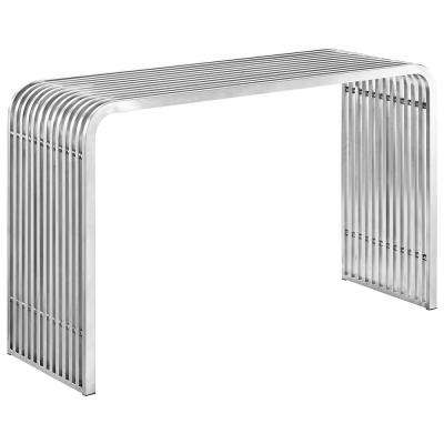 Silver Pipe Stainless Steel Console Table
