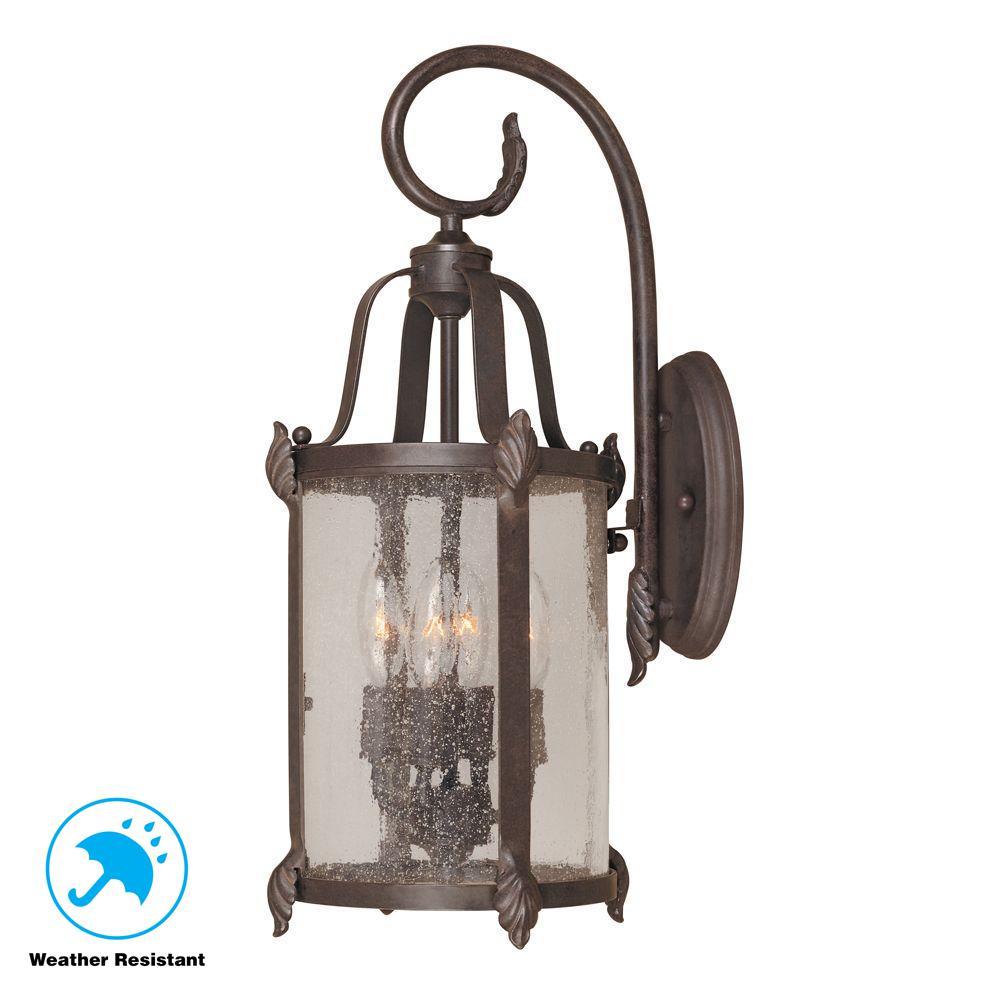 Old Sturbridge Collection 4-Light Bronze Outdoor Wall Lantern