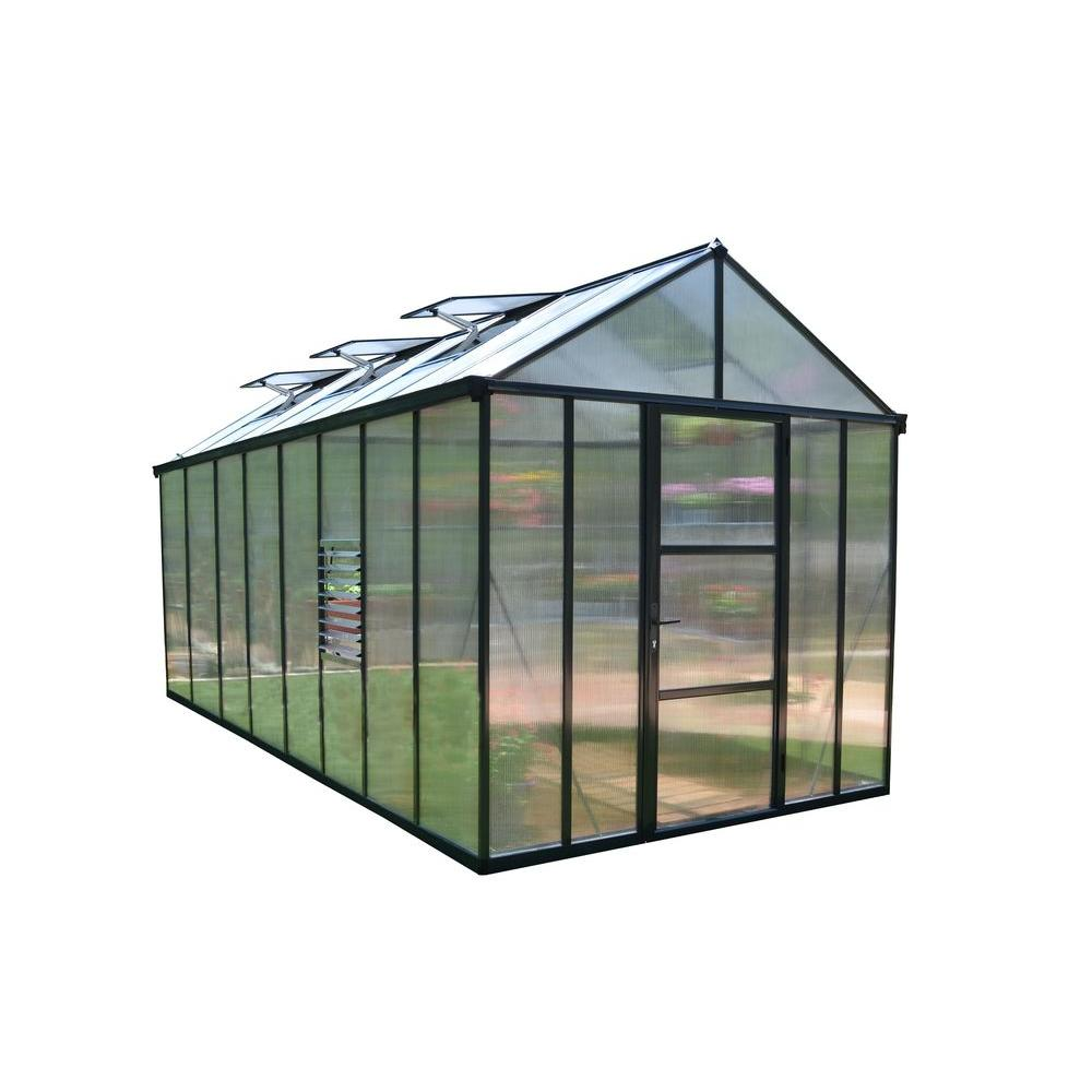 Palram Premium Class 8 ft  x 16 ft  Glory Greenhouse