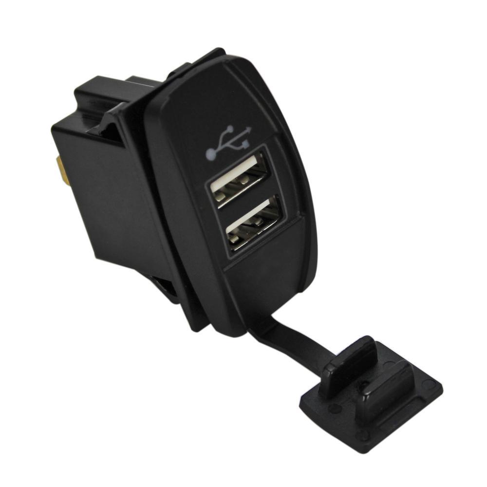 Marine Grade Switch-Style Double USB 5 Amp 4.2 Amp Output