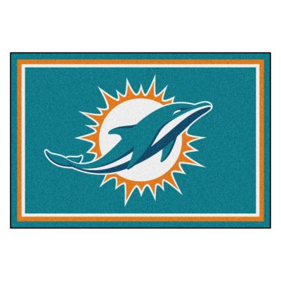 Miami Dolphins 5 ft. x 8 ft. Area Rug