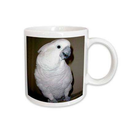 Birds 11 oz. White Ceramic Umbrella Cockatoo Mug