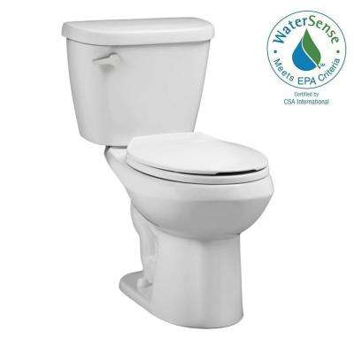 Renaissance WaterWarden Toilet-To-Go Tall Height 2-piece 1.28 GPF Round Toilet in White