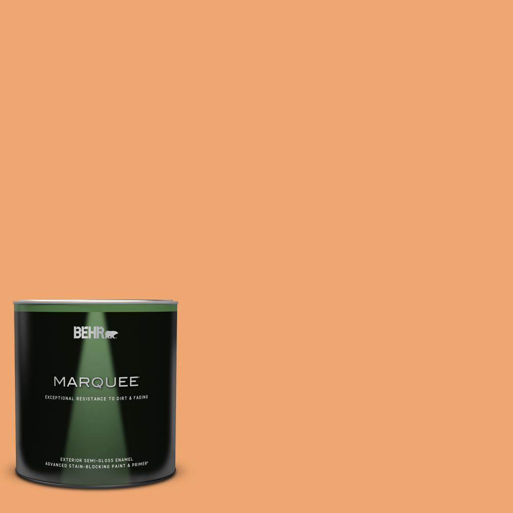 Behr Marquee Home Decorators Collection 1 Qt Hdc Sp16 04 Apricot Jam Semi Gloss Enamel Exterior Paint And Primer 545404 The Home Depot