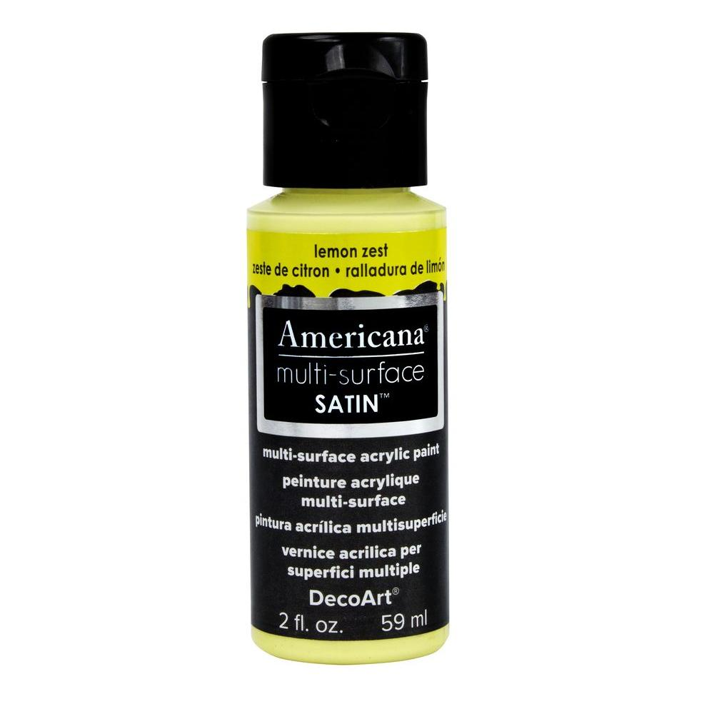 Americana 2 oz. Lemon Zest Satin Multi-Surface Acrylic Paint