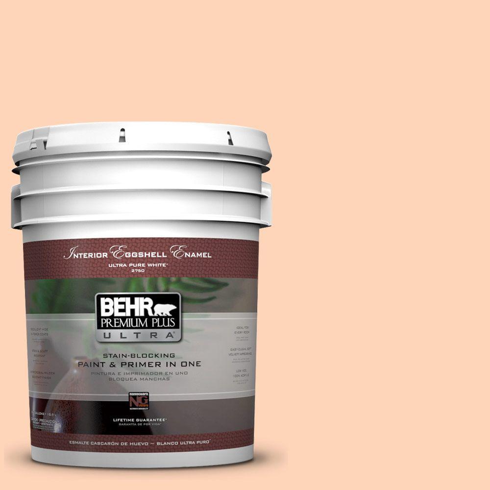 BEHR Premium Plus Ultra 5-gal. #260A-3 Peach Beige Eggshell Enamel Interior Paint