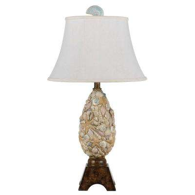 30 in. Pearl White Coastal Table Lamp