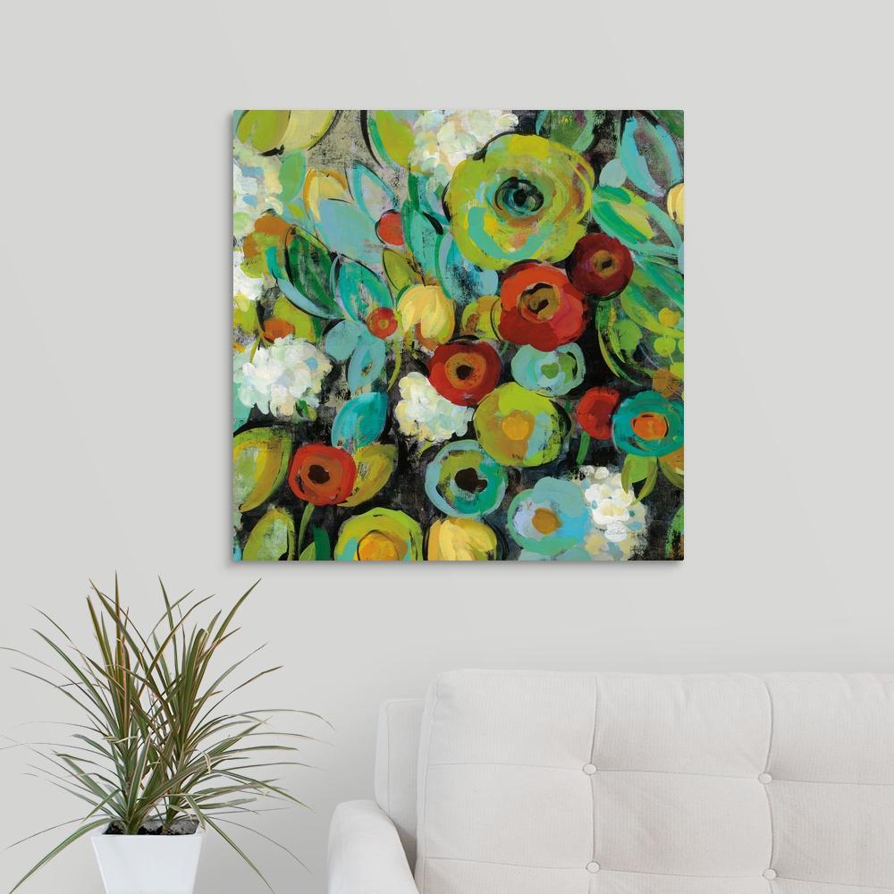 greatbigcanvas fiesta floral crop by silvia vassileva canvas wall