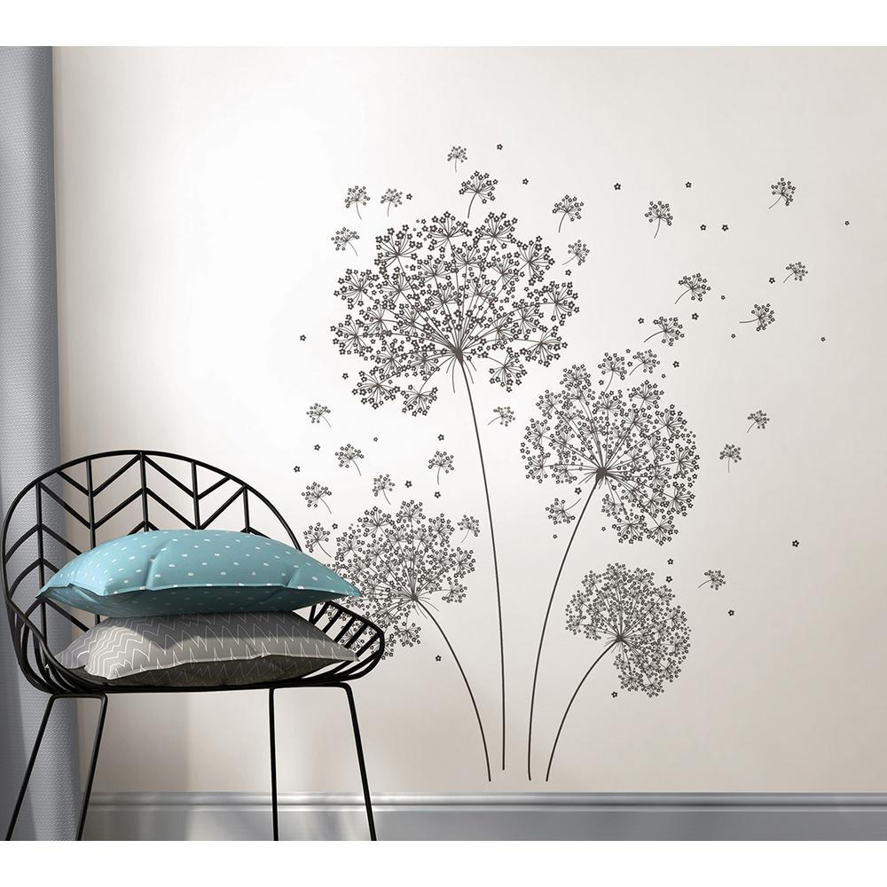 Wallpops 345 in x 39 in stand out stair decor wall decal dandelion breeze wall decal amipublicfo Images
