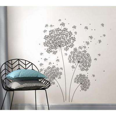 39 in. x 17.25 in. Dandelion Breeze Wall Decal