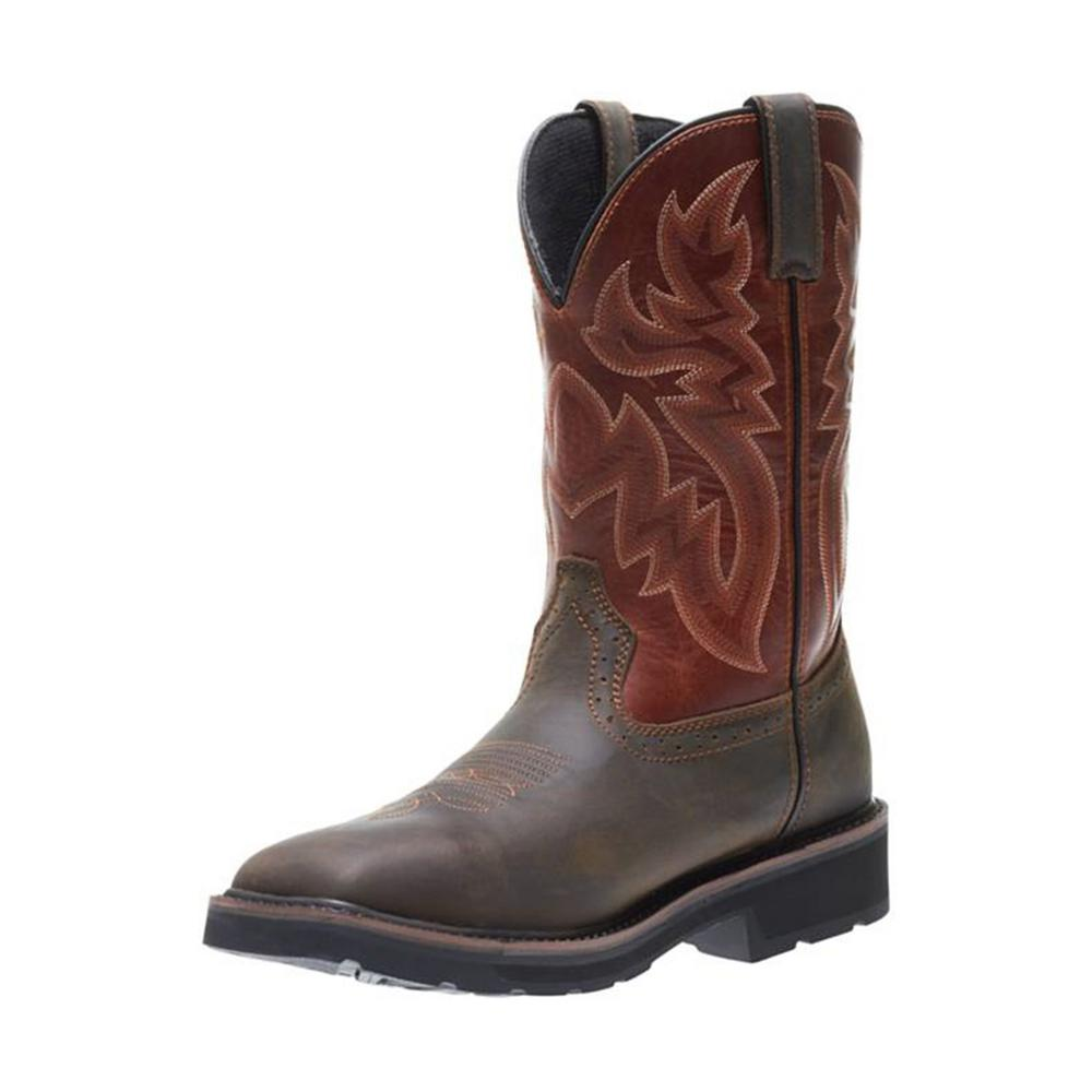 f4cc587db12 Wolverine Men's Rancher WPF Size 9.5EW Rust Brown Full-Grain Leather 10 in.  Wellington
