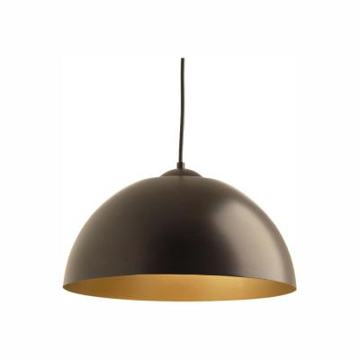 Dome Collection 17-Watt Antique Bronze Integrated LED Pendant