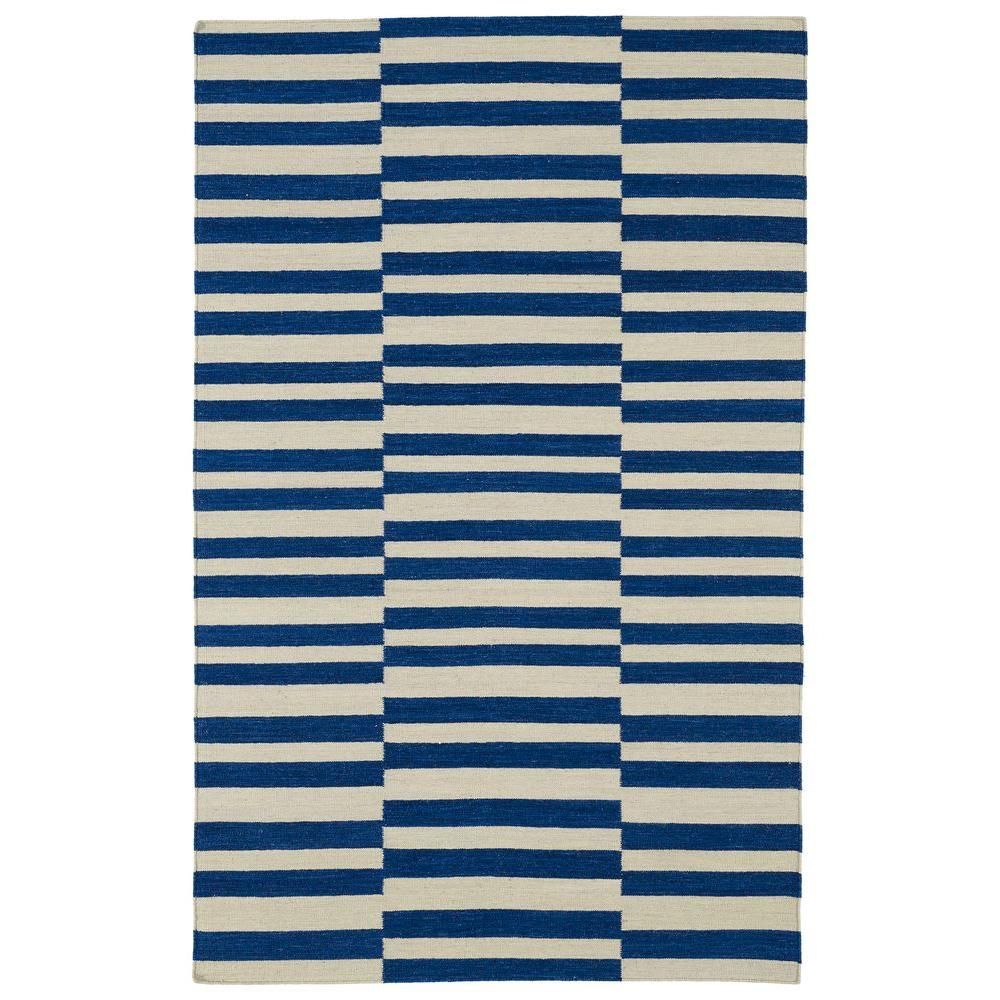 Kaleen Nomad Navy 3 ft. 6 in. x 5 ft. 6 in. Area Rug