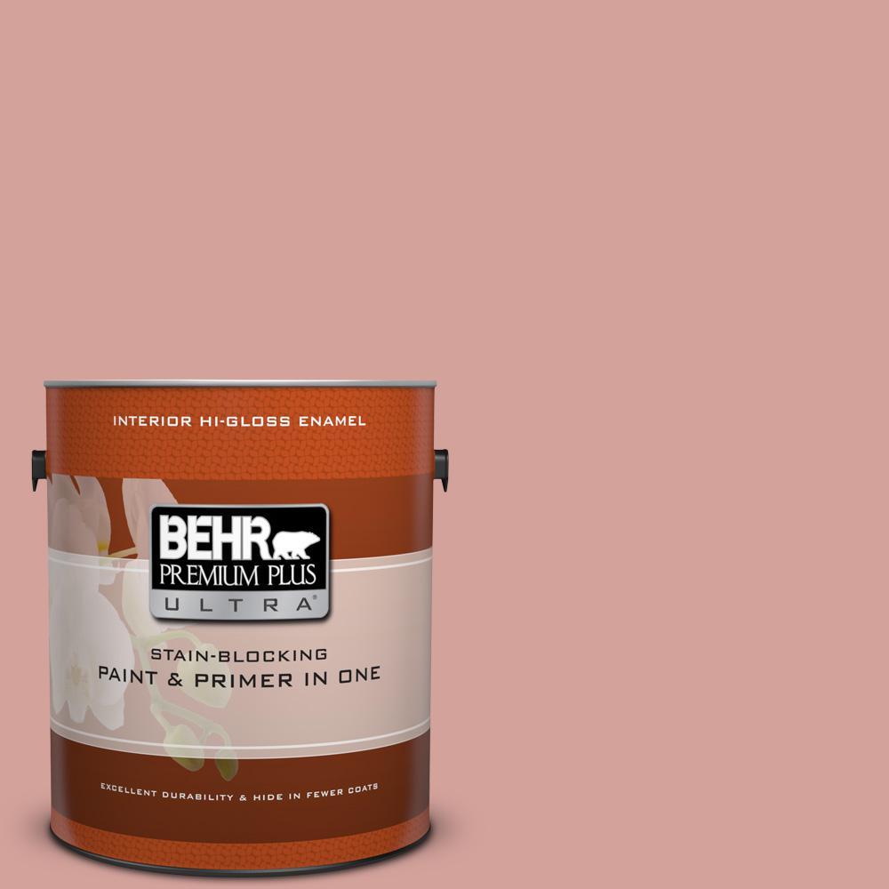 BEHR Premium Plus Ultra 1 gal. #S160-3 Bubble Shell Hi-Gloss Enamel Interior Paint
