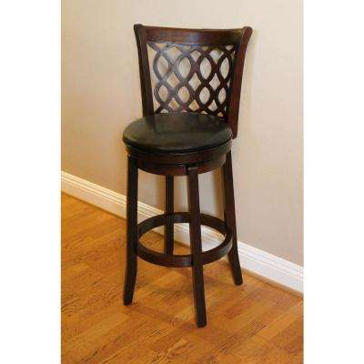 Allison 30 in. Brown Swivel Bar Stool