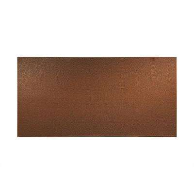 96 in. x 48 in. Hammered Decorative Wall Panel in Oil Rubbed Bronze
