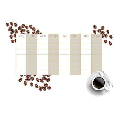 18.5 in. x 26.4 in. Coffee Weekly Calendar Wall Decal