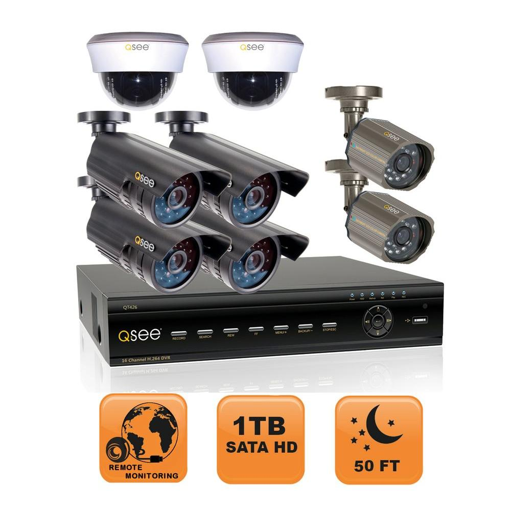 Q-SEE Advanced Series 16 CH 1TB Hard Drive Surveillance System with Eight 480 TVL Cameras-DISCONTINUED