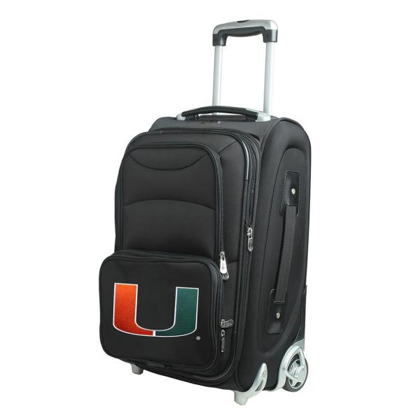 Denco Ncaa Northeastern 21 In Black Carry On Rolling Softside Suitcase Clnel203 The Home Depot